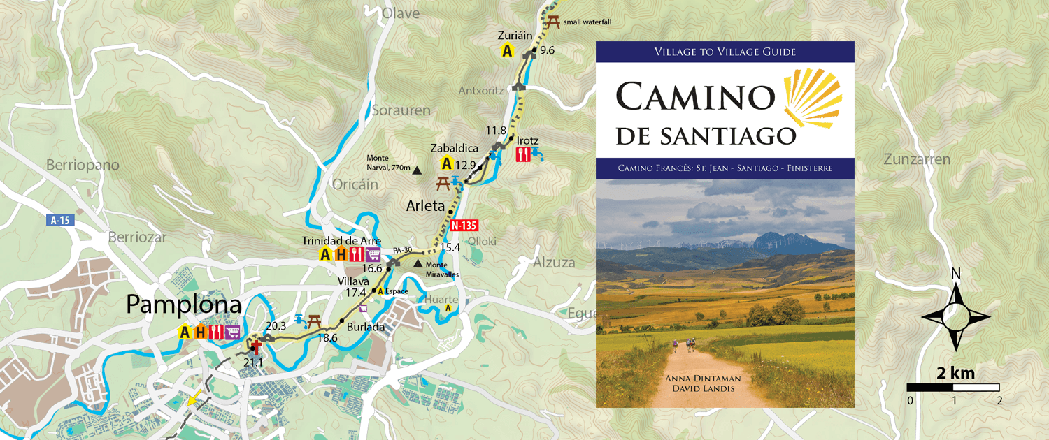 Maps GPS Trail Markings Camino Guidebooks Village to Village